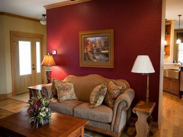 Rote Tapeten für königliche Räumlichkeiten in Ihrem Zuhause -   - wohnzimmer deko rot