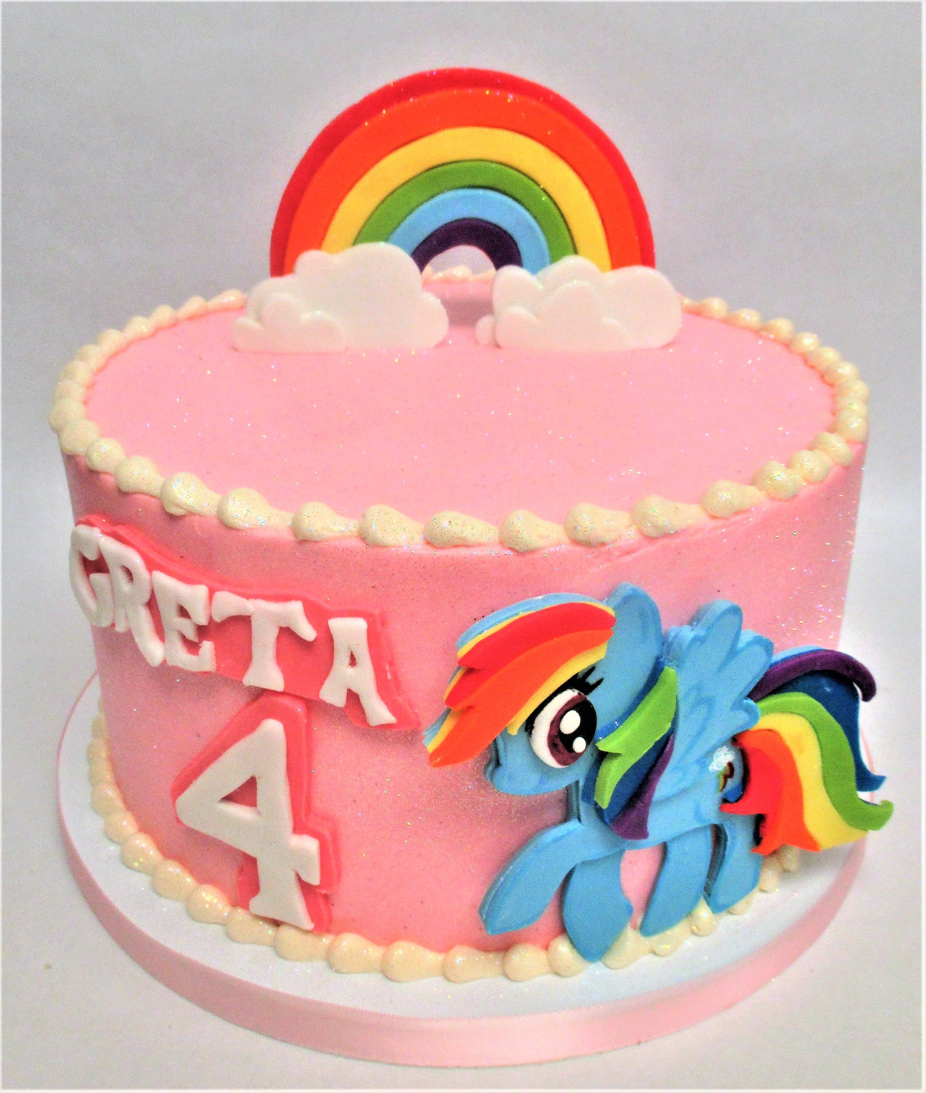 Pink Kids Rainbow Dash My Little Pony Birthday Cake by Flavor