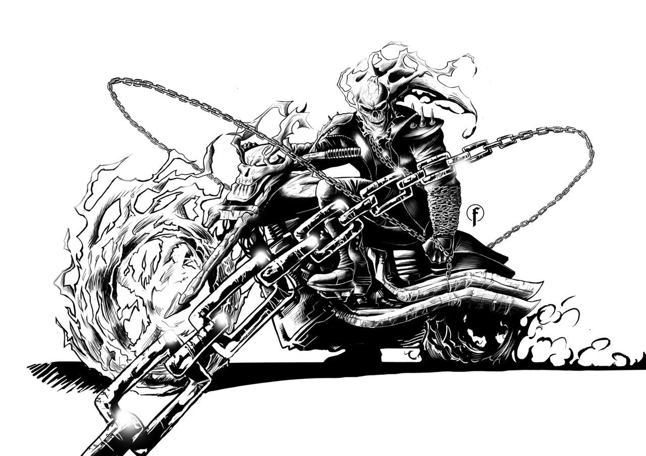 20 New For Ghost Rider Bike Drawing Picture The Japingape