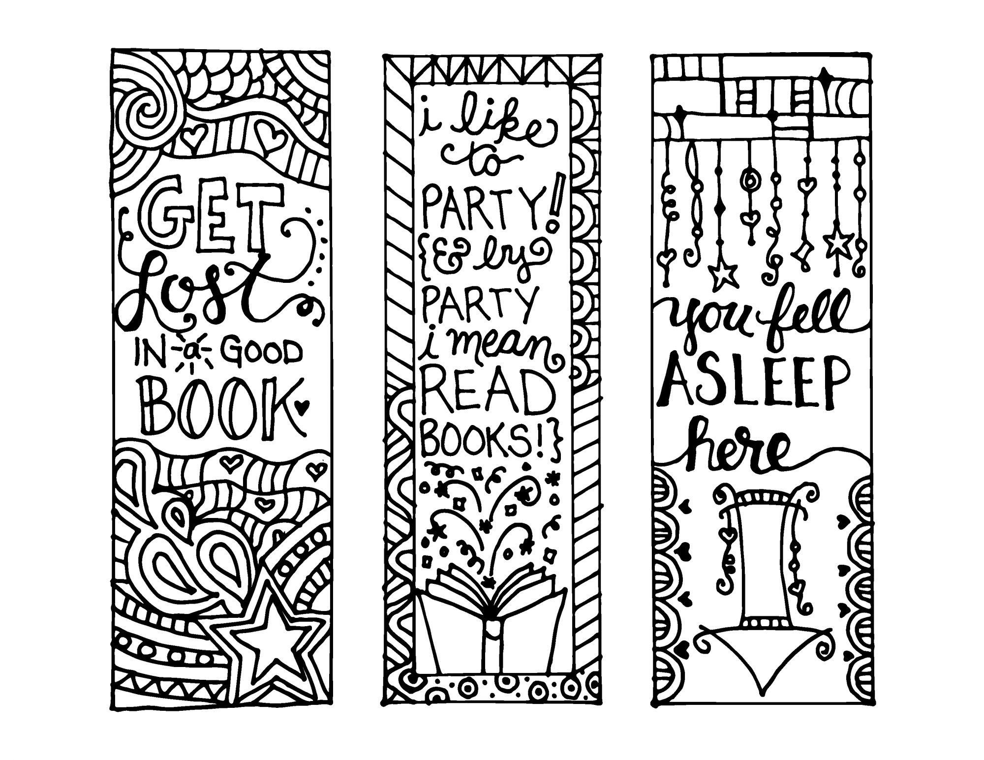 Free Printable Reading Bookmarks Black And White Activity