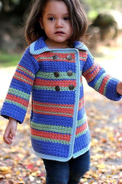 Pea Coat Sweater pattern by Anji Beane | Häkeln, Stricken und Kinder ...