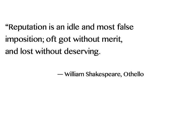 Quote From Othello On Reputation Orientalism And Shakespeare Gorgeous Othello Quotes