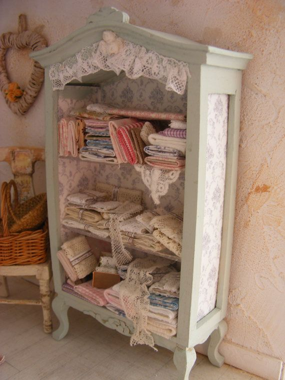 Miniature Haberdashery Cupboard Shabby By Shabbychicminis On Etsy