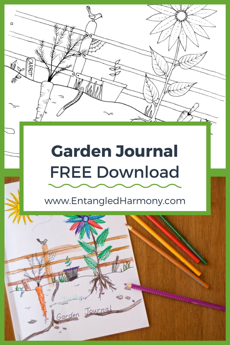 graphic regarding Printable Garden Journal named Backyard garden Magazine for Little ones (+ Totally free Down load) Gardening