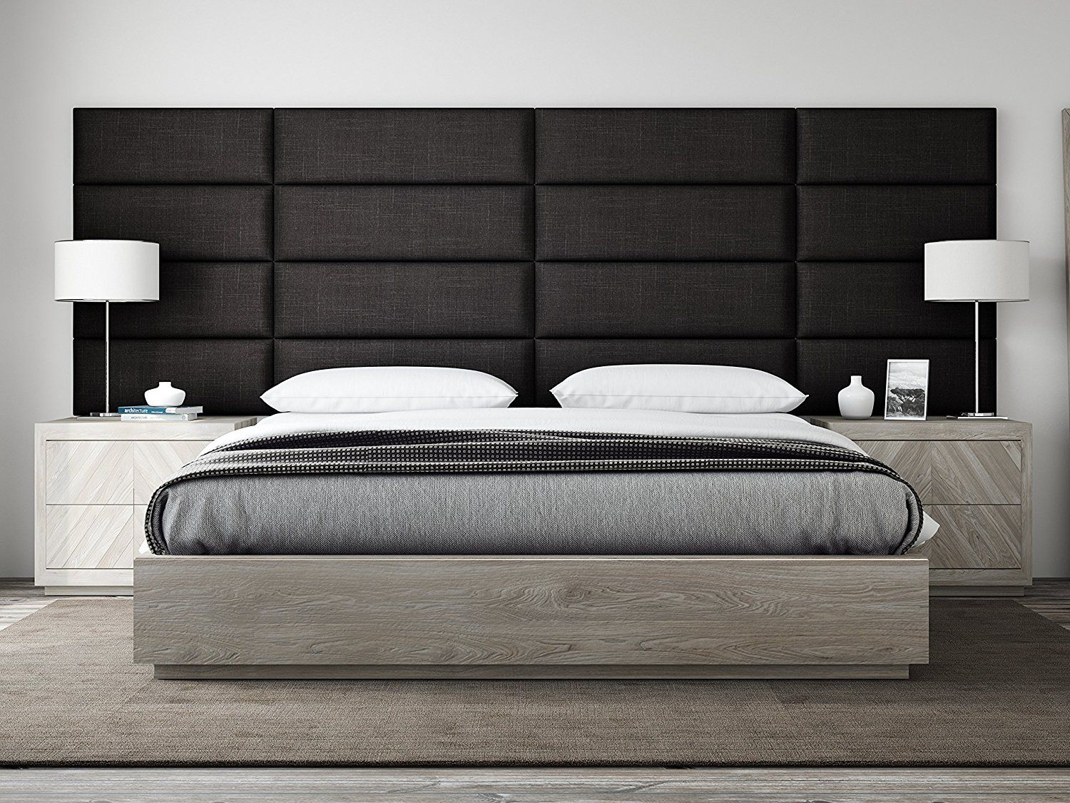 Add Character To Your Bedroom With A Custom Made Headboard Or Padded Wall Panels Like This One From Upholstered Walls Upholstered Headboard King Bedroom Sets