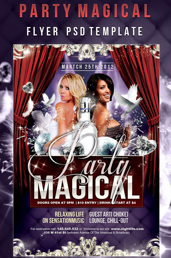 Party Magical Flyer Psd Template 12 Free And Paid Party Flyer