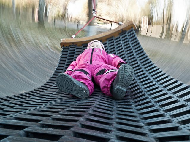 At the playground, via Flickr.