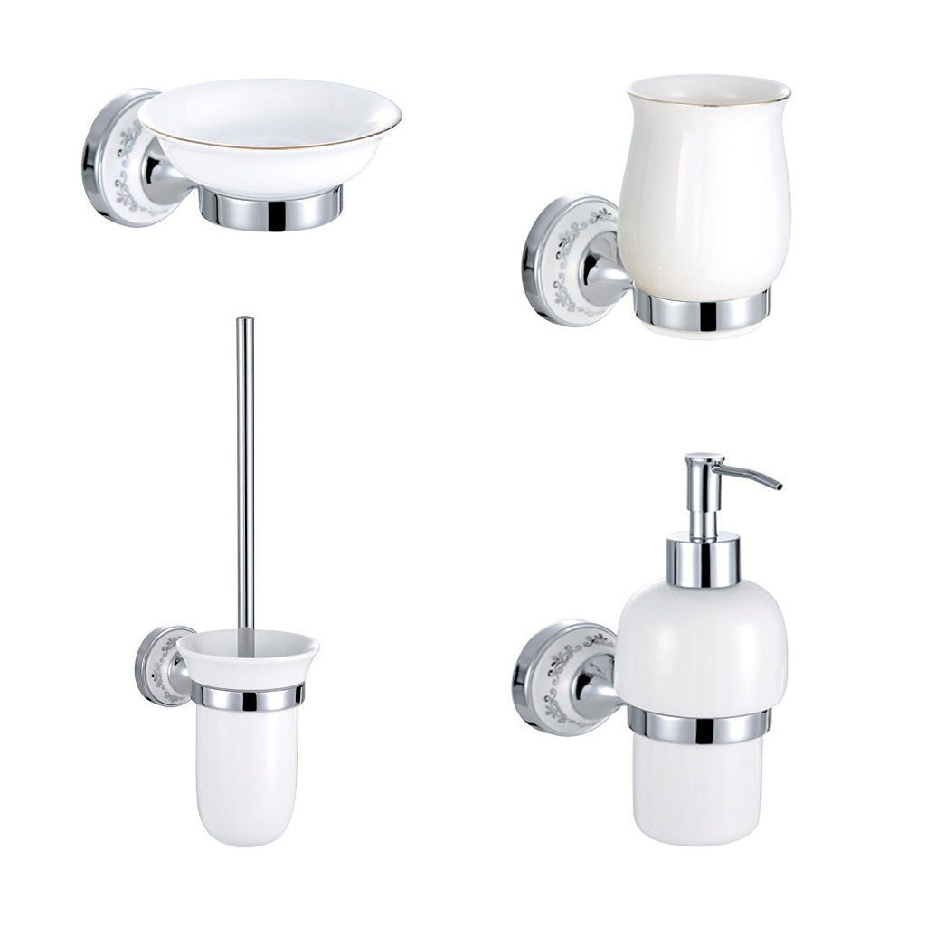 Bathroom Accessories Set Tumbler Soap Dish Dispenser Toilet Brush ...