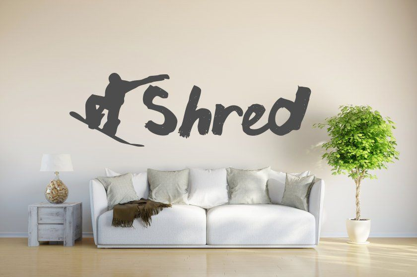Shred decal, shred the gnar, shred it decal, Snowboard decal ...