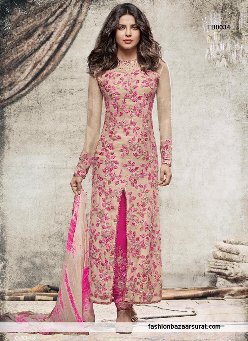 buy Priyanka Chopra Hypnotizing Hot Pink Designer Salwar Suit ...