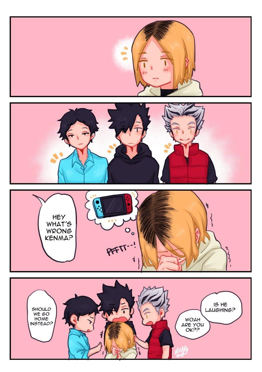 Haikyuu Kenma Akaashi Kuroo Bokuto Haikyuu Funny Haikyuu Haikyuu Anime
