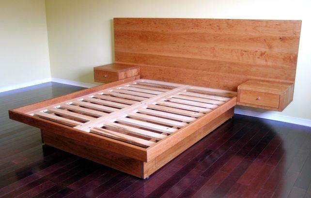 Custom Platform Bed With Drawers In Sidetables Platform Bed