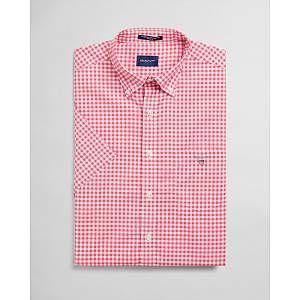 Regular Fit Short Sleeve Gingham Broadcloth Shirt