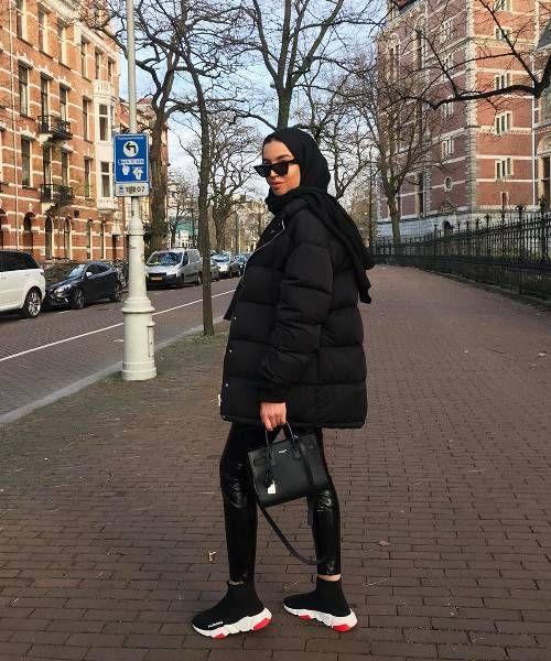 Tenues entièrement noires: 27 façons parfaites de donner l'impression que vous avez fait un effort   – Başörtüsü modası