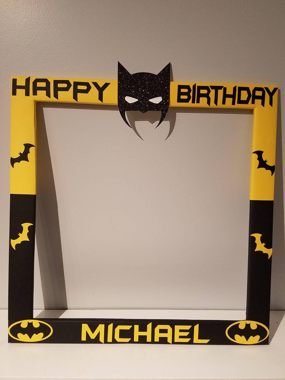 Custom Photo Frame - Batman - PhotoBooth - Party - Birthday ...