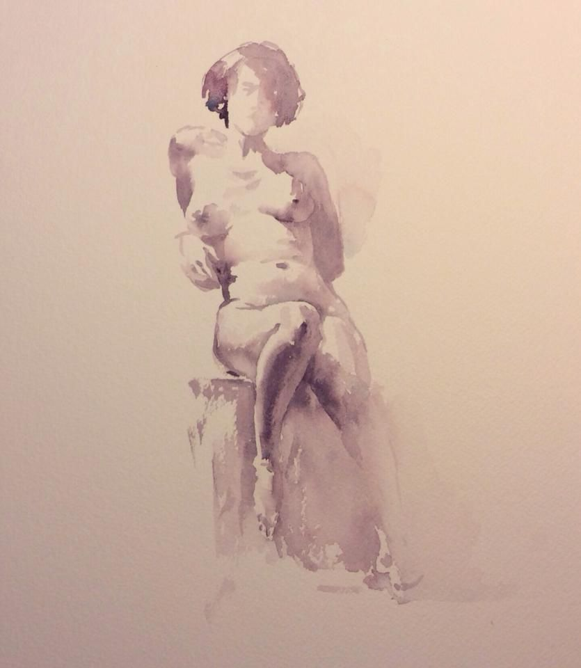 Igor Sava   anatomy   Pinterest   Nudo, Acuarela y Dibujo