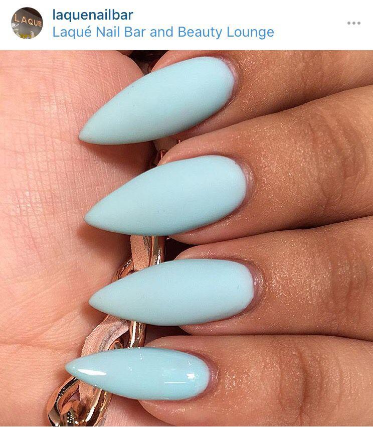 Matte Baby Blue Stilleto Nails Acrylic Nails Stiletto Blue Stiletto Nails Blue Acrylic Nails