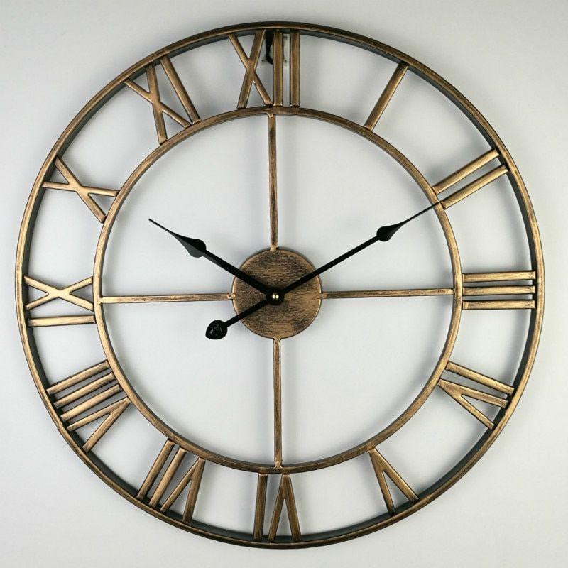 80cm North Europe Brief Creative Wall Clock Roman Numerals Retro