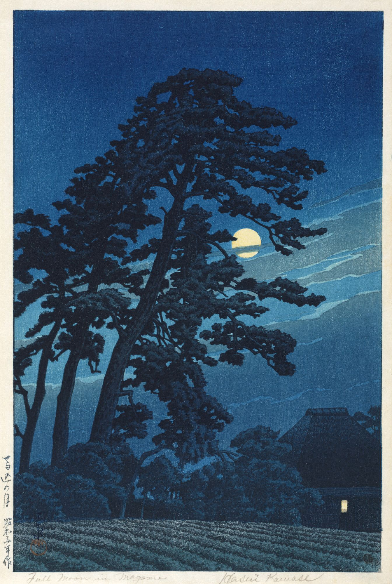 Hasui Kawase | Full moon in Magome | Art Gallery of New South Wales | Discover and Shop Museum Art Prints | 1000Museums