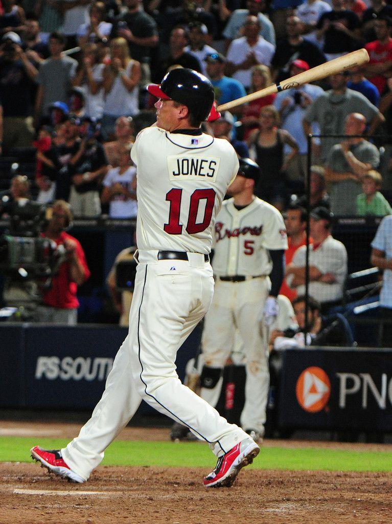 Chipper Jones Photos Photos Philadelphia Phillies V Atlanta Braves Atlanta Braves Chipper Jones Braves Baseball
