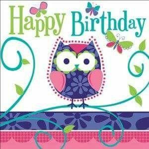 50th Birthday Jackie Happy Birthday Owl Happy Birthday Greetings Happy Birthday Cards