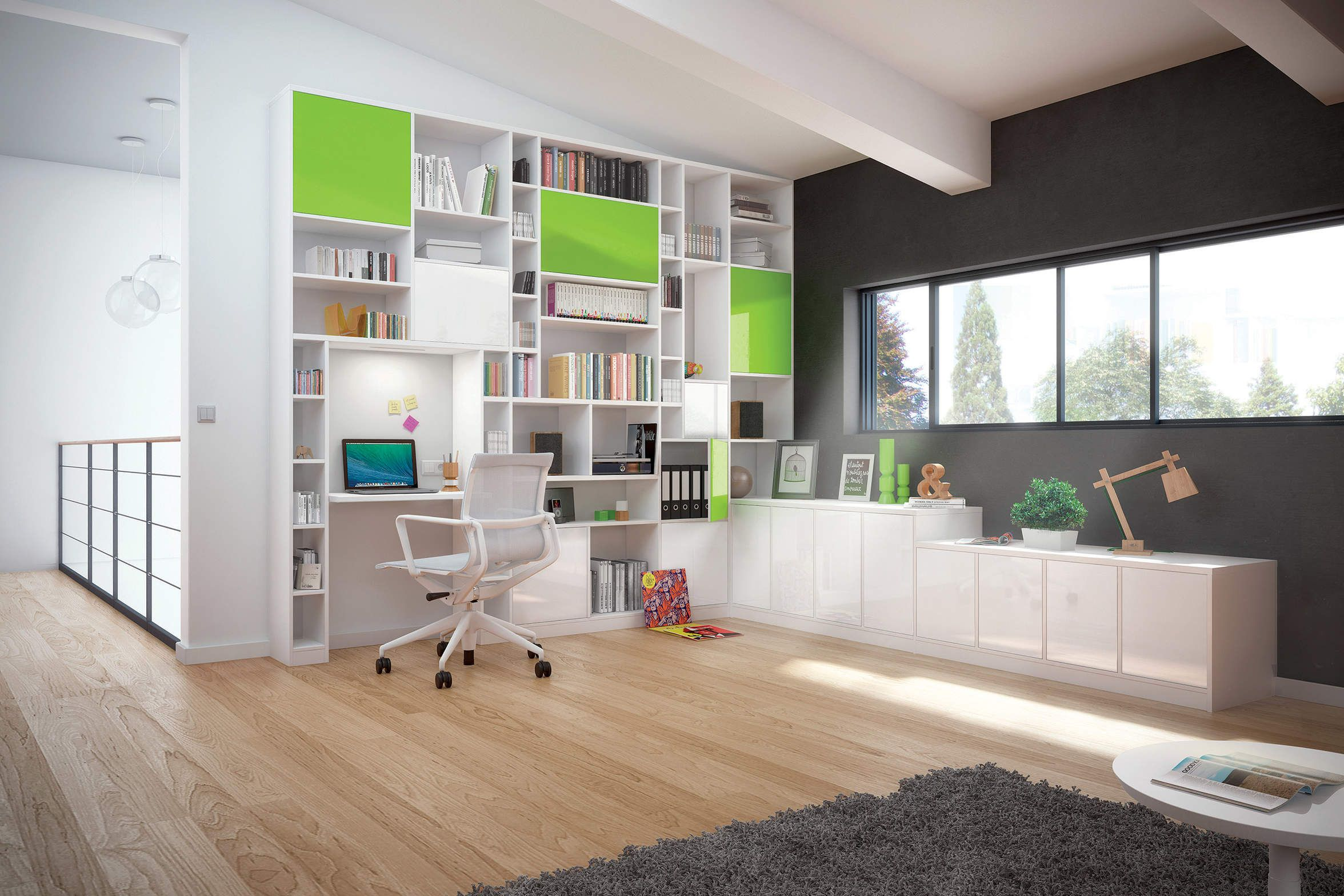 Am Nagement Biblioth Que Bureau Bureau Pinterest Amenagement  # Meubles Bas Bibliotheque Salon