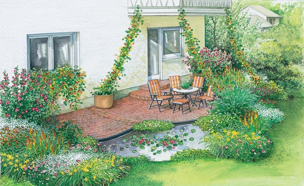 1 Garten 2 Ideen Neues Flair Fur Eine Alte Terrasse Garten Gartengestaltung Bilder Gartendesign Ideen