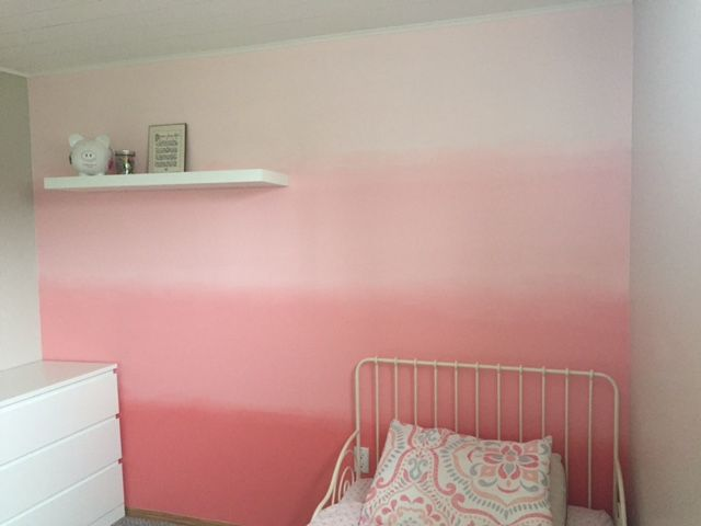 This Ombre Wall Is A Beautiful Idea For A Little Girls Room!