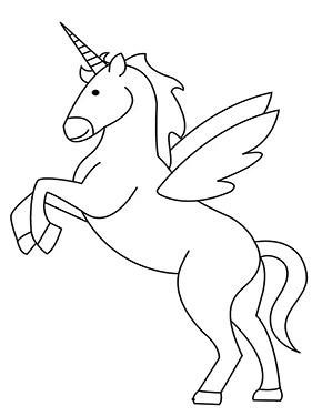 Ausmalbild Einhorn Mit Flugeln Unicorn Coloring Pages Coloring Pages Cartoon Coloring Pages