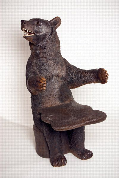 A Black Forest Life Sized Bear Chair Circa 1880 Bear Chair