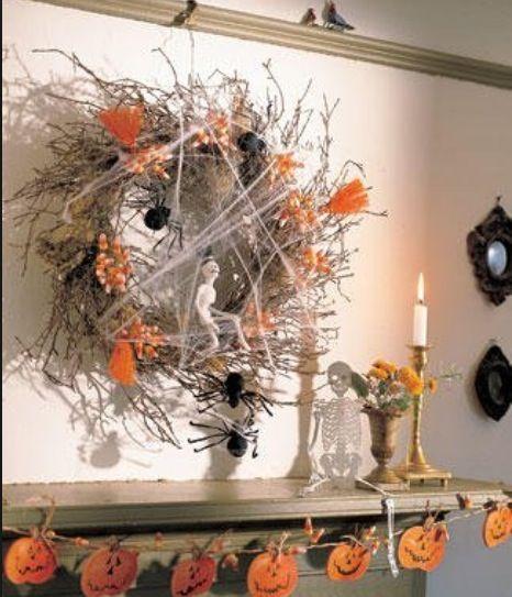 halloween wreath 40 easy to make diy halloween decor ideas
