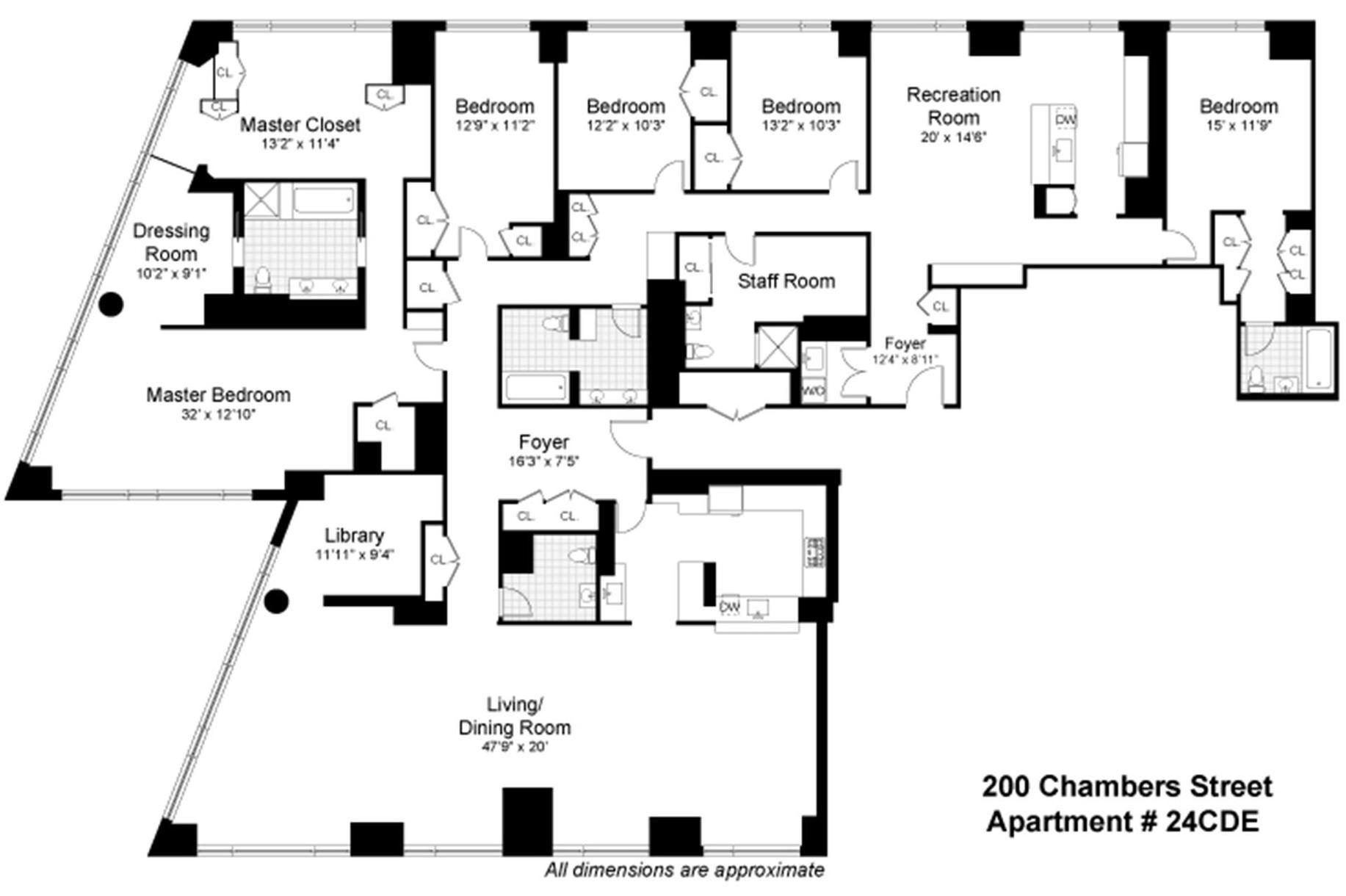 New York South Florida California Connecticut Colorado And New Jersey Real Estate Douglas Elliman Apartment Floor Plans Floor Plans Staff Room