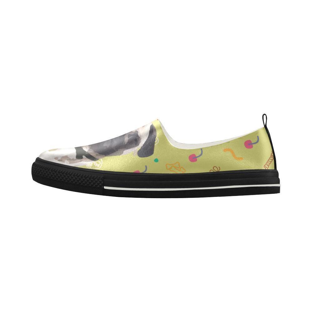 332adc943873 TeeAmazing -  e-joyer Pug Apus Slip-on Microfiber Women s Shoes ...