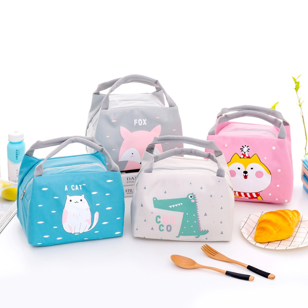 Childrens Kids Lunch Picnic Bag With Lunch Box and Bottle