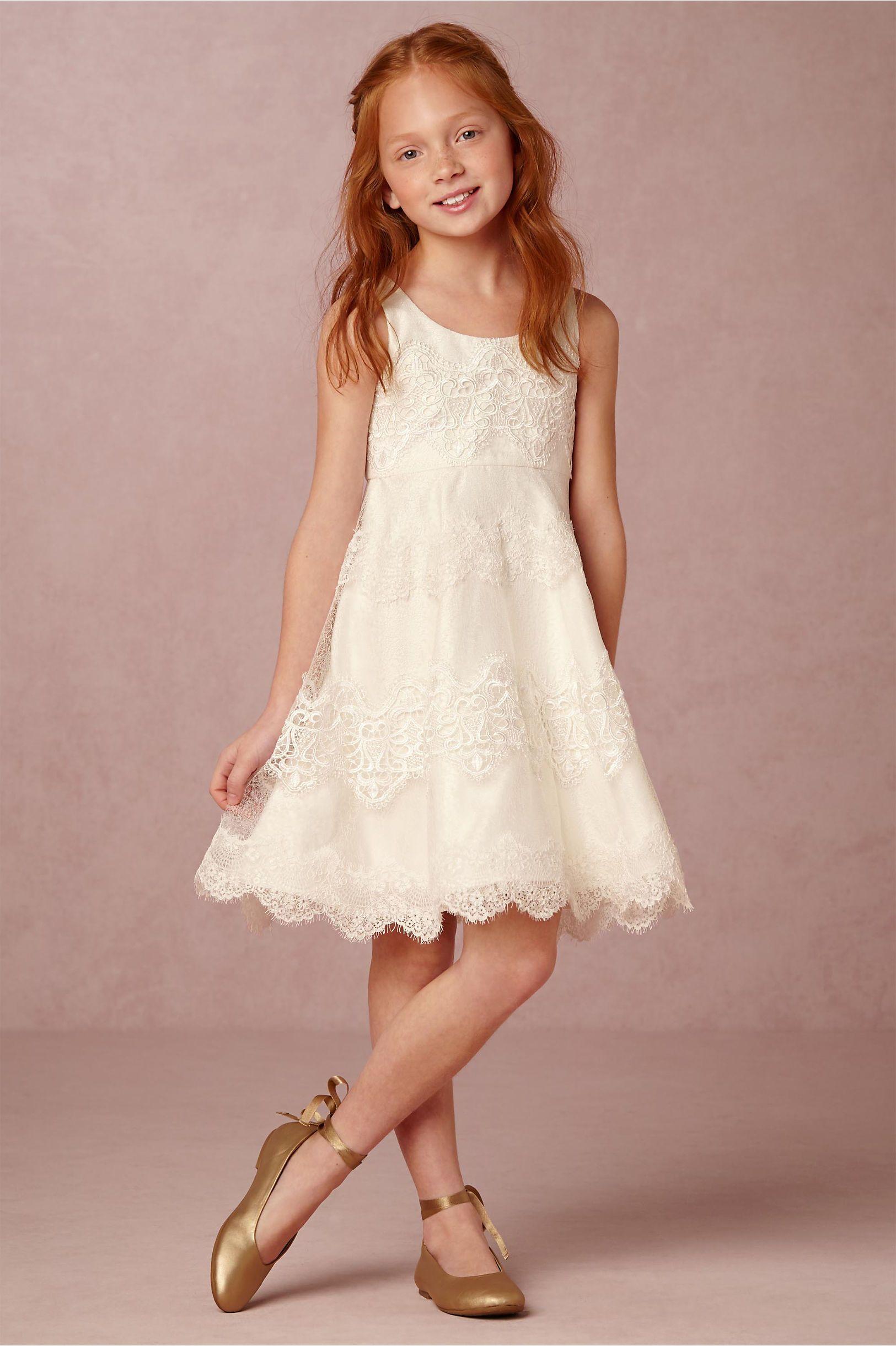 ef2c59f24763 Ivory lace flower girl dress | Bebe Dress from BHLDN | Flower Girls ...
