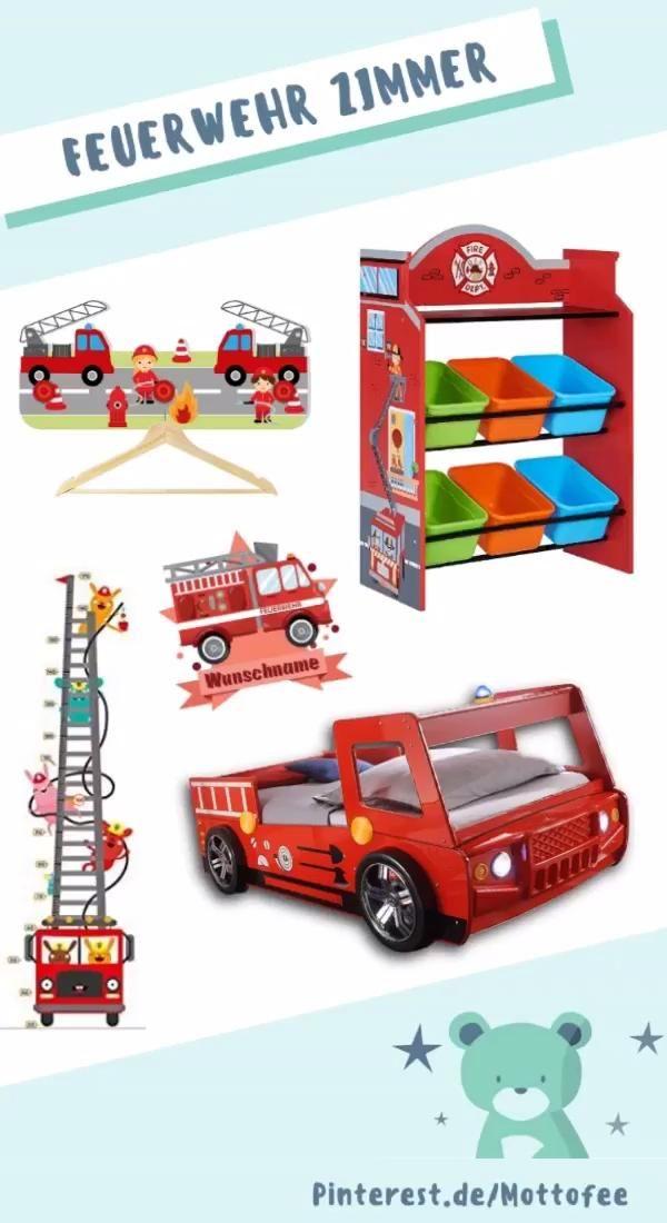 Einrichtung Deko Fur Ein Feuerwehr Kinderzimmer Video In 2020 Kinderzimmer Kinder Zimmer Piratenzimmer