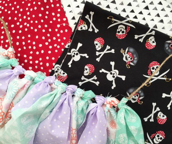 Pirates & Mermaids Fabric Banner Pirates & Mermaids Birthday Party