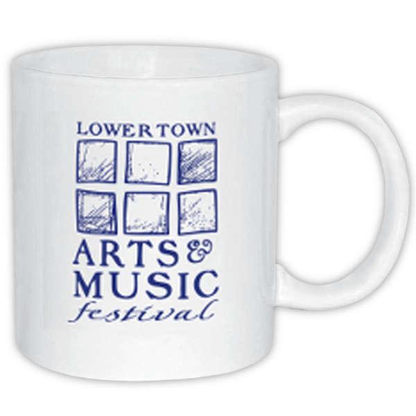 11 oz Ceramic Coffee Mug White Mugs, Coffee mugs, Ceramics