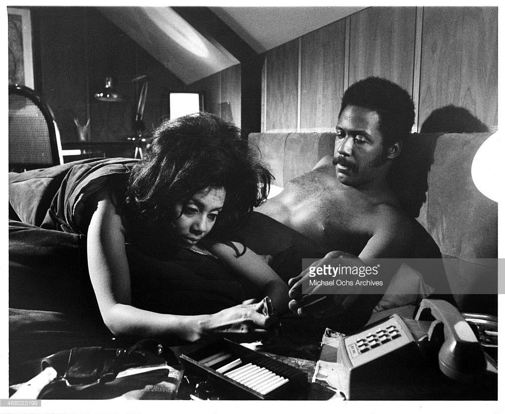 Actor Richard Roundtree And Rosalind Miles On Set Of The Movie