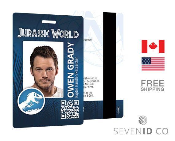 Owen Grady  costume prop cosplay green jurassic park Jurassic World ID Badge