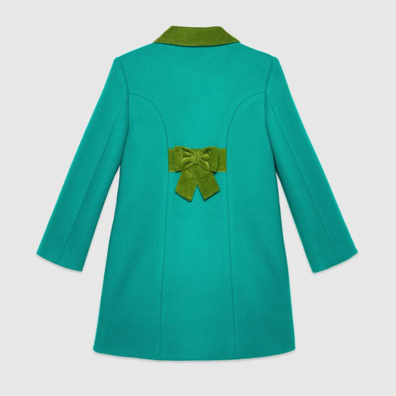 47a60aece Gucci Children's wool coat with velvet trims Detail 2 | AW tears ...