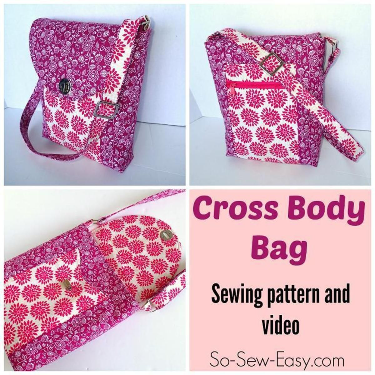 Cross body bag cross body bags bag and sewing patterns bags cross body bag cross body purse patterns freebag sewing jeuxipadfo Image collections