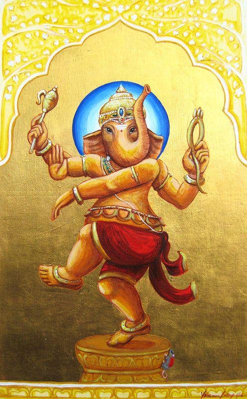 Natraj Ganesha Art Print by Yohanna Jessup | Best Ganesha ...