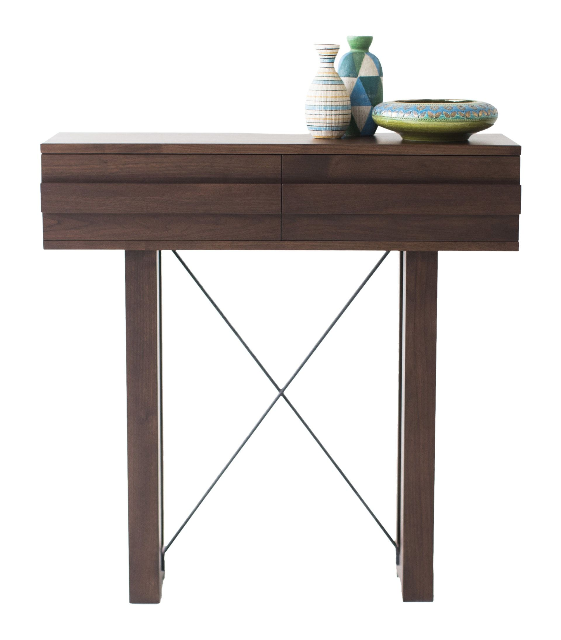 Contemporary hallway furniture  Modern Walnut Console    Modern console tables Console tables