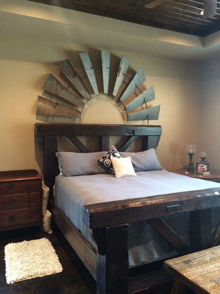 Half of a windmill blade used as wall-art for a rustic Midwest feel ...