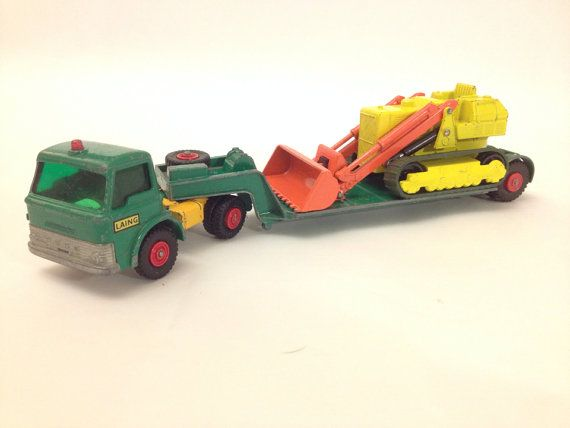 Vintage Matchbox King Size No K-17, Ford Dyson Low Loader and  No K-8, Caterpillar Traxcavator 1970.  on Etsy, £15.00