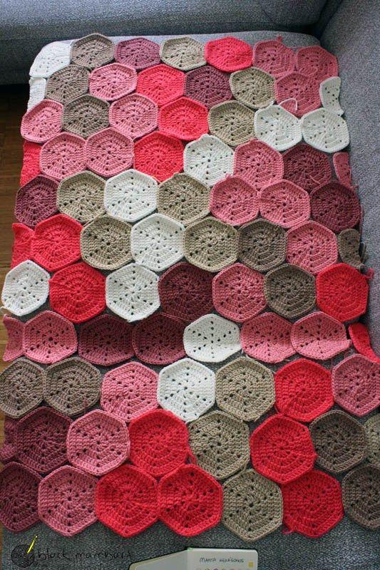 Manta hexágonos crochet. Free pattern | Häkeln