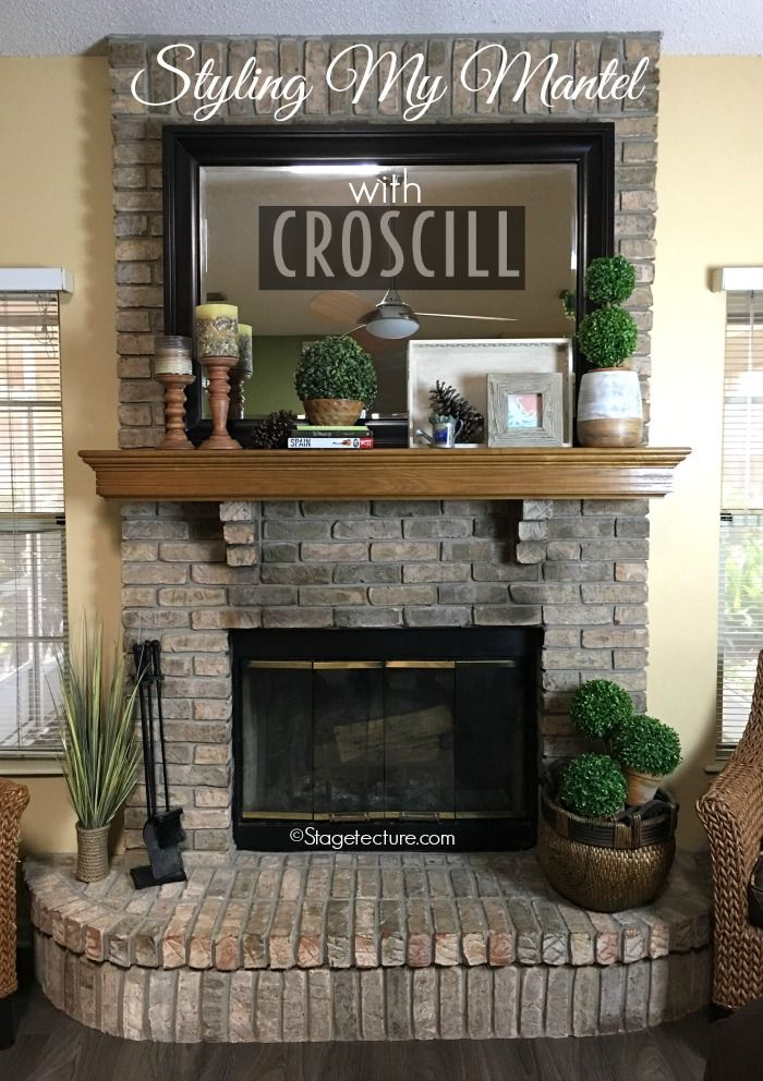 Lovely Fireplace Mantel Decor Ideas Part - 7: 4 Easy Fireplace Mantel Decorating Ideas With Croscill - | Fireplace Mantel,  Mantels And Mantels Decor