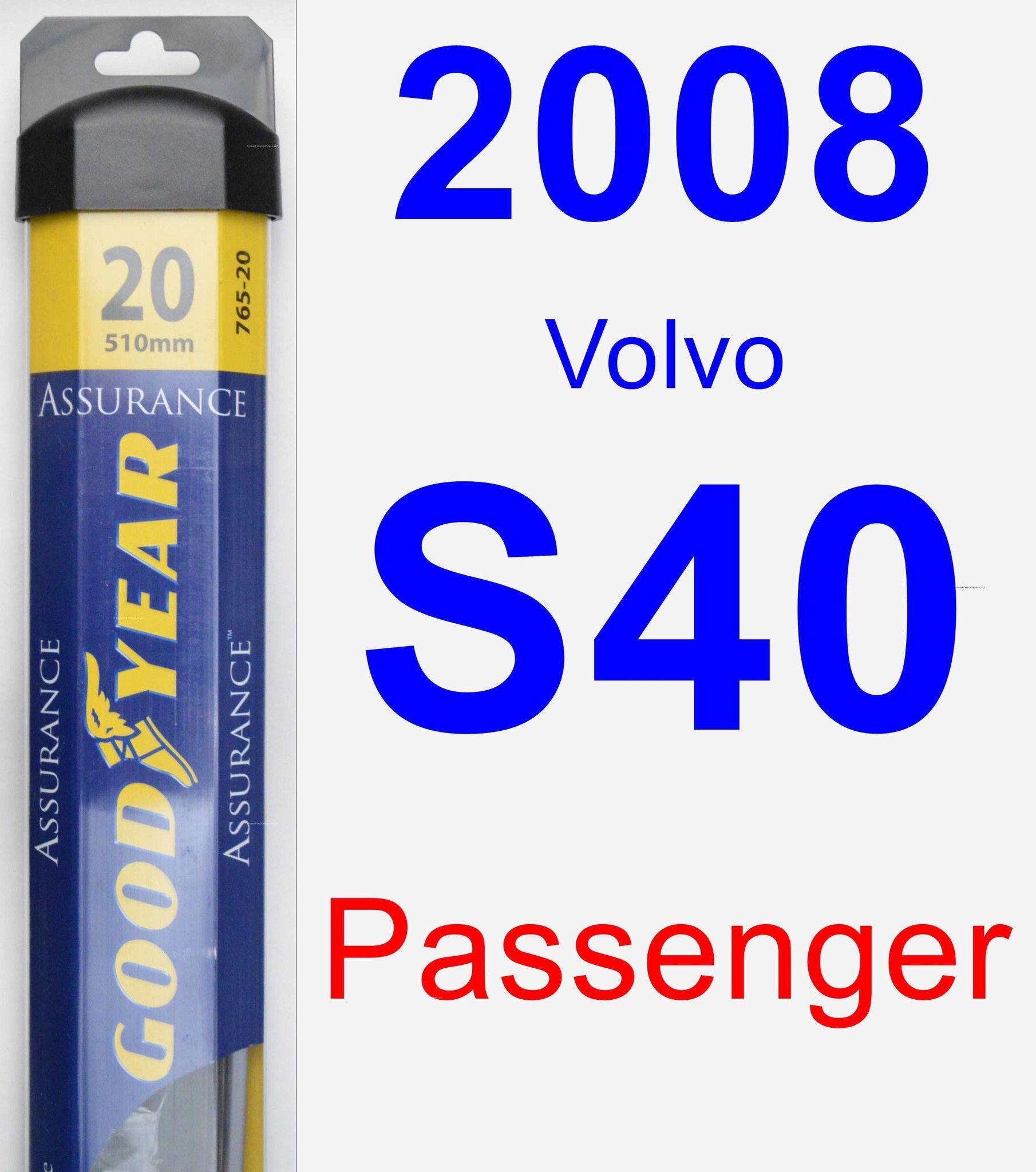Passenger Wiper Blade for 2008 Volvo S40 - Assurance