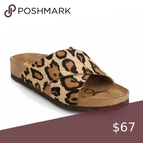 sam edelman leopard slide sandals